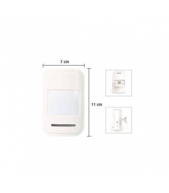 HD-LINE AL-18 Kit alarme sans fil GSM SIM + 7 detecteurs PIR + 7 detecteurs porte + 2 detecteurs fumee + sirene