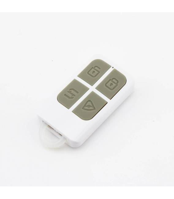 HD-LINE AL-10 Kit alarme sans fil ligne fixe FT ADSL + 7 detecteurs PIR + 7 detecteurs porte + 2 detecteurs fumee + sirene
