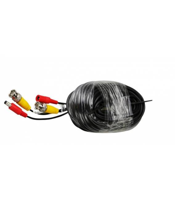 Black cable for security camera with interfaces BNC and DC Bfsat.fr