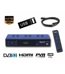 HD-LINE HD-250 + USB-Stick 8Go Satellite Receiver HD PERITEL FTA Free channels