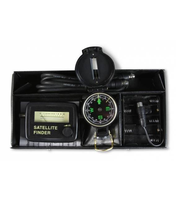 KIT SATFINDER + boîte de transport + POINTEUR SATELLITE + Boussole + Cable