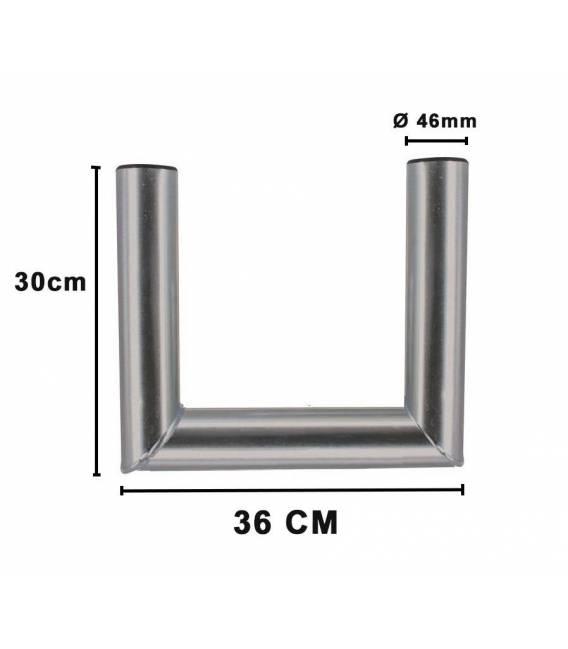 Dimension du support de fixation en U pour 36 cm d'écart sur bfsat.fr