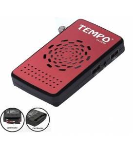 TEMPO CA 410HD Démodulateur satellite FTA CA carte reader Récepteur chaines gratuites par parabole