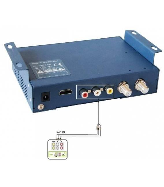 """SATLINK WS-6990 Modulateur numérique DVB-T - Ecran LCD 2,4"""" - HDMI RCA AV Route DVB-T"""