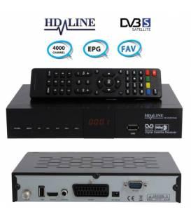 HD-LINE SD-40 Démodulateur satellite FTA Péritel / Scart