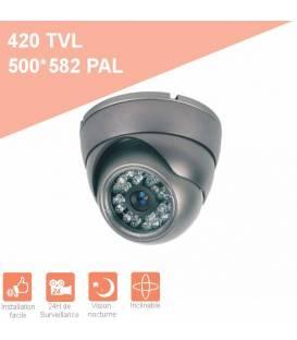 Security Camera MD-200G Dome CCTV grey IR 24 LED - Color 420TVL metal