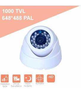 Security camera PL-50W Dome CCTV White IR 24 LED - Color 420TVL plastic BFSAT