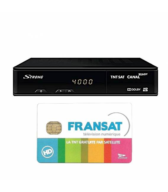 STRONG SRT 7405 HD Satellite decoder with fransat card bfsat.fr