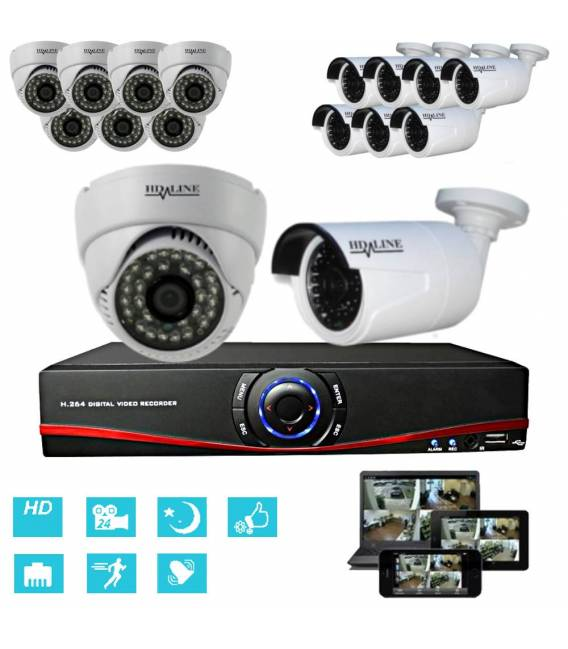 Big IP security videosystem 16 cameras, 1 DVR and accessories bfsat.fr
