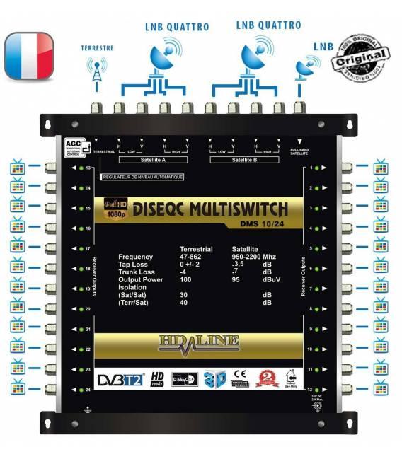 SET HD-LINE PRO MULTISWITCH 9/24 - 2SAT - 1TER / 24 DEMOS