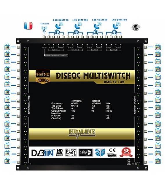SET HD-LINE PRO MULTISWITCH 17/32 - 4SAT - 1TER / 32DEMOS