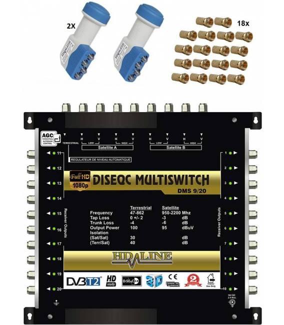 HD-LINE PRO MULTISWITCH 9/20 - 2SAT - 1TER / 20DEMOS