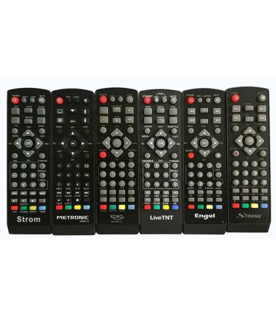 Télécommande universelle 5en1 compatible pour décodeurs TNT Strong Engel Metronic Strom LiveTNT Xoro