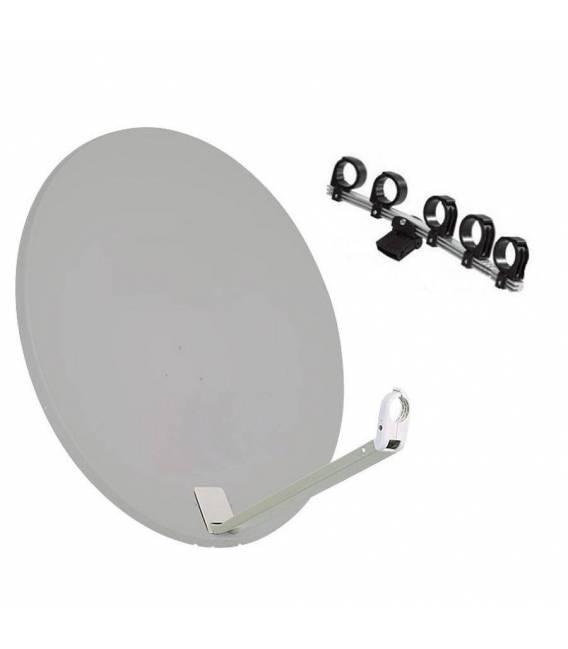 Kit Satellite Dish Triax 110 cm white + support 5 LNB