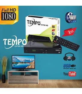 Tempo 23700 Digitaler Satelliten Receiver - (HDTV, DVB-S/S2, HDMI, SCART, 2X USB 2.0, Full HD 1080p) [Vorprogrammiert für Astra