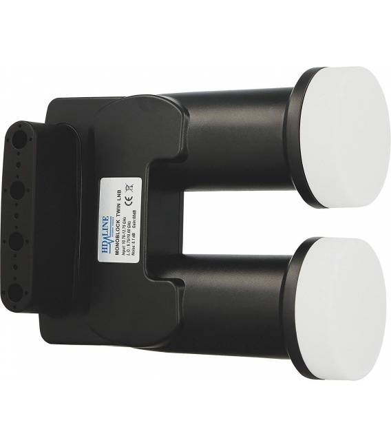 HD-LINE monobloc TWIN with connector gold LNB 0.1db FULL HD 3D