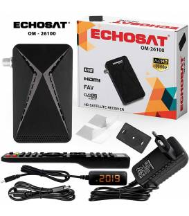 Echosat OM-26100 Mini Sat Receiver —DVB S/S2 Satelliten Receiver ✓Full HD ✓1080 P ✓HDMI ✓2 x USB 2.0 ✓HDTV [Digital Satelliten R