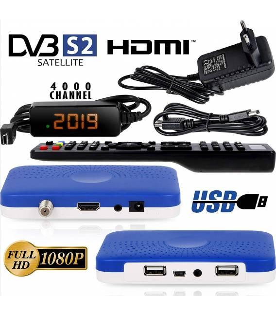 Récepteur Mini Sat hd-line HD-90 — Récepteur Satellite S / S2 ✓Full HD ✓1080 P ✓HDMI ✓2 x USB 2.0 ✓HDTV [Récepteur satellite num