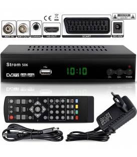 Strom 506 DVB-T2 Récepteur Numérique — ( Décodeur TNT Terrestre ) ✓DVB-T / DVB-T2 ✓ Full HD ✓MPEG 2 ✓MPEG 4 ✓H.265 ✓1080i ✓1080