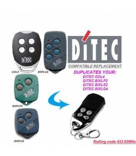 HD-LINE Telecommande Universelle de Portail — Compatible pour ✓DITEC ✓ Nice ✓ V2 [ 433.92 Mhz ] — 4 Canal
