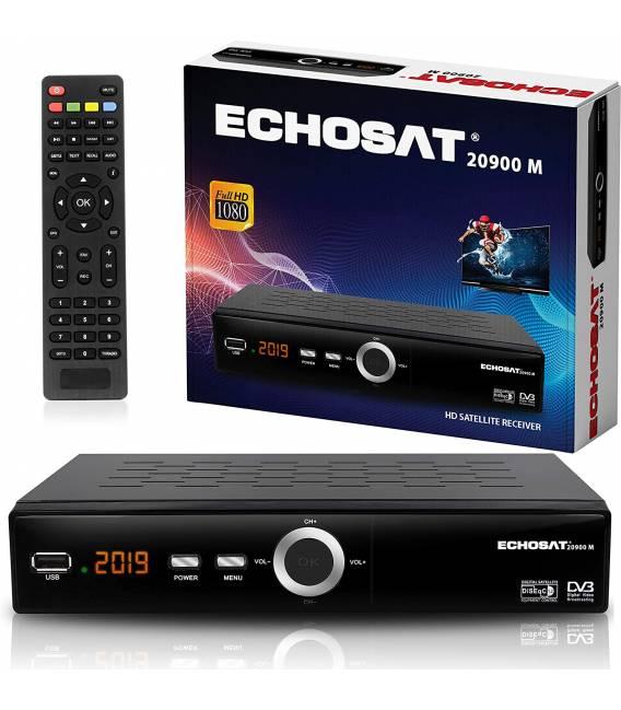 Echosat 20900 Digitaler Satelliten Receiver - (HDTV, DVB-S/S2, HDMI, SCART, 2X USB 2.0, Full HD 1080p) [Vorprogrammiert für Astr