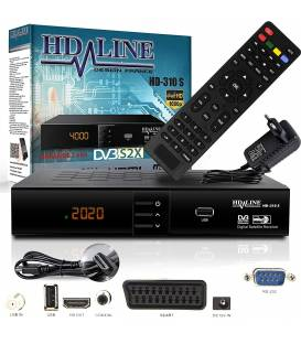 HD-Line | HD-310 Digital Satellite Receiver — ✓HD ✓FTA ✓USB ✓PVR ✓DVB-S2 ✓HDMI ✓DVB-S SCART