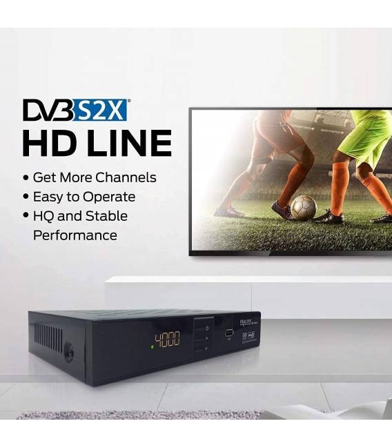 HD-Line |HD-310 Digital Satellite Receiver — ✓HD ✓FTA ✓USB ✓PVR ✓DVB-S2 ✓HDMI ✓DVB-S SCART