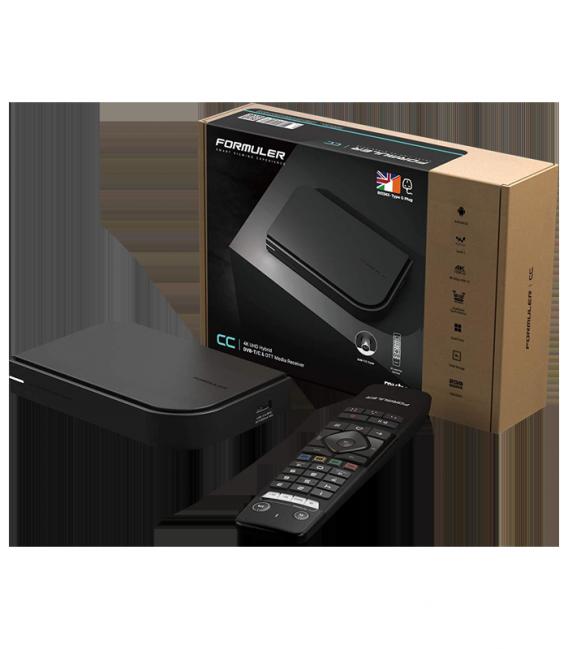 Formuler CC 4 K UHD IPTV Android 7 Lecteur avec tuner DVB-C/T2 H.265 2 Go RAM 16 Go flash WiFi