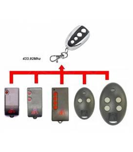 BFT MITTO2 OU MITTO4 AND TRC1 TRC2 OR TRC4 Universal Remote Control 433 MHZ Garage
