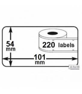 Lot 3 rouleaux étiquettes DYMO 99012 compatibles BLANC labels writer rolls