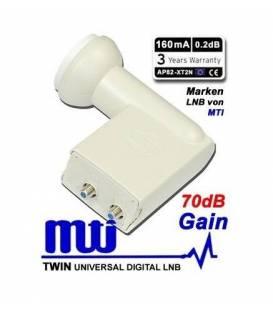 LNB MTI Twin 0,2 dB High Line AP82 XT2N 70db