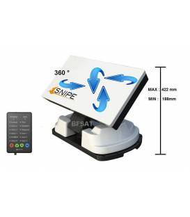 SELFSAT SNIPE parabole camping full automatique pour mobile camping