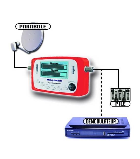 HD-LINE SF-500 DIGITAL SATFINDER POINTEUR SATELLITE